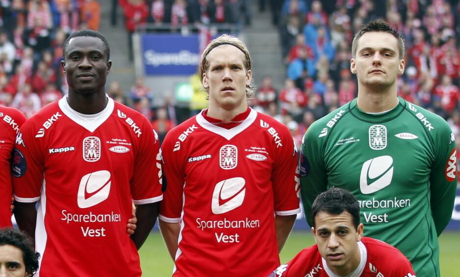 FIN ÅRGANG: Flere av de som spilte cupfinale for Brann i 2011 er med på Dagbladets kåring av Branns beste startellever fra 2010 til 2019. Foto: NTB Scanpix
