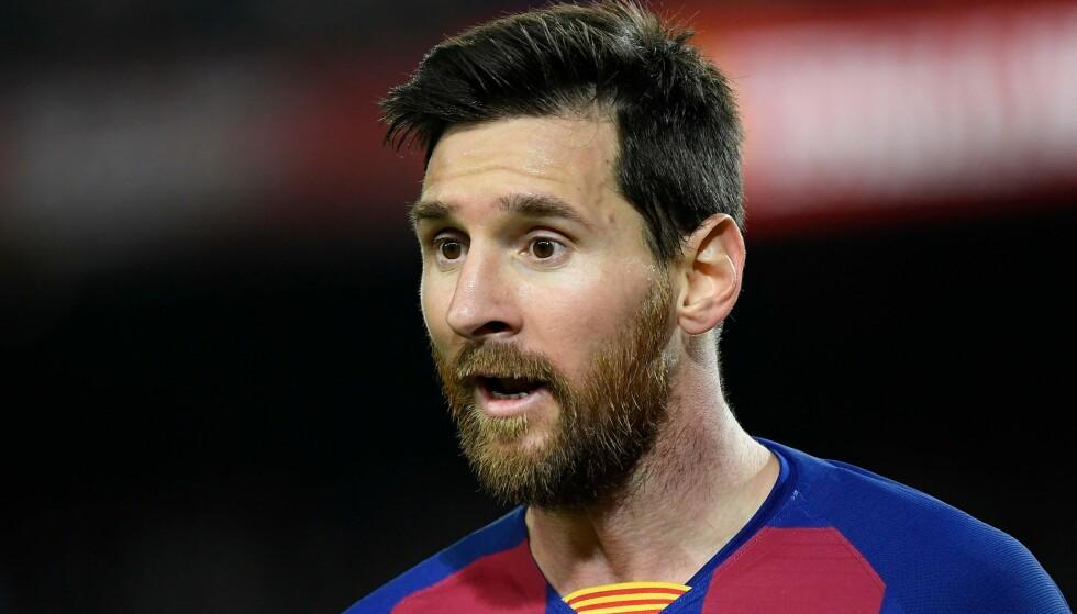 BRYTER TAUSHETEN: Lionel Messi. Foto: Lluis Gene/AFP