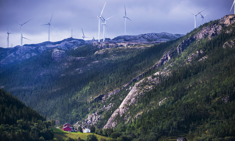 STORHEIA: Fosen-utbyggingen består av totalt seks vindparker. Storheia (bildet) er den største av de seks, og ble satt i drift i januar. Foto: Hans Arne Vedlog / Dagbladet