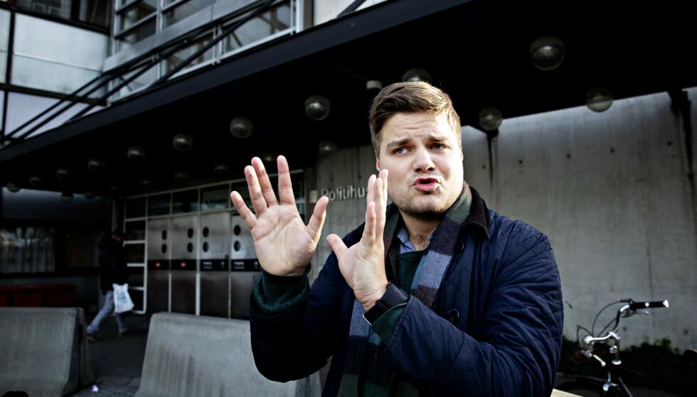 ANMELDER: Tobias Drevland Lund i Rød Ungsom håper politiet tar anmeldelsen av fiskeriministeren alvorlig. Foto: Nina Hansen / Dagbladet