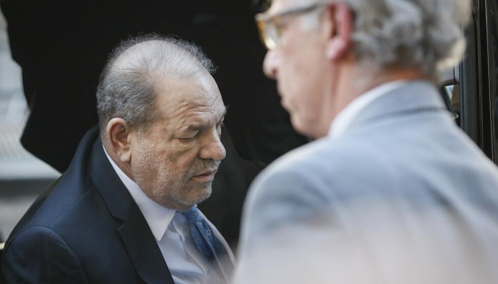 KJENT SKYLDIG: Mandag ble Harvey Weinstein kjent skyldig i seksuelle overgrep og voldtekt. Foto: NTB Scanpix