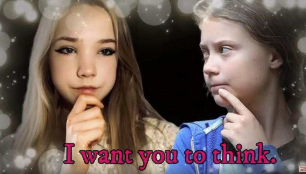 ANTI-GRETA: Heartland fronter den tyske influenseren med et motsvar til Greta Thunbergs kjente sitat «I want you to panic». Foto: The Heartland Institute / Skjermdump