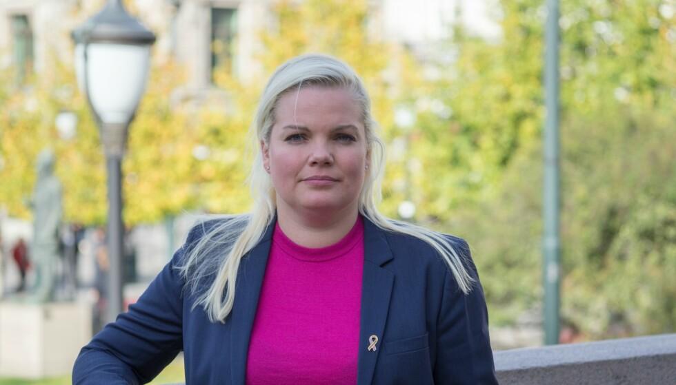 KREVER HANDLING: Frps Silje Hjemdal mener Likestilingsombudet har vært påfølgende fraværende i debatten om forbud mot gater oppkalt etter menn i Bergen. Foto: Bjørn Inge Bergestuen (Fremskrittspartiet).