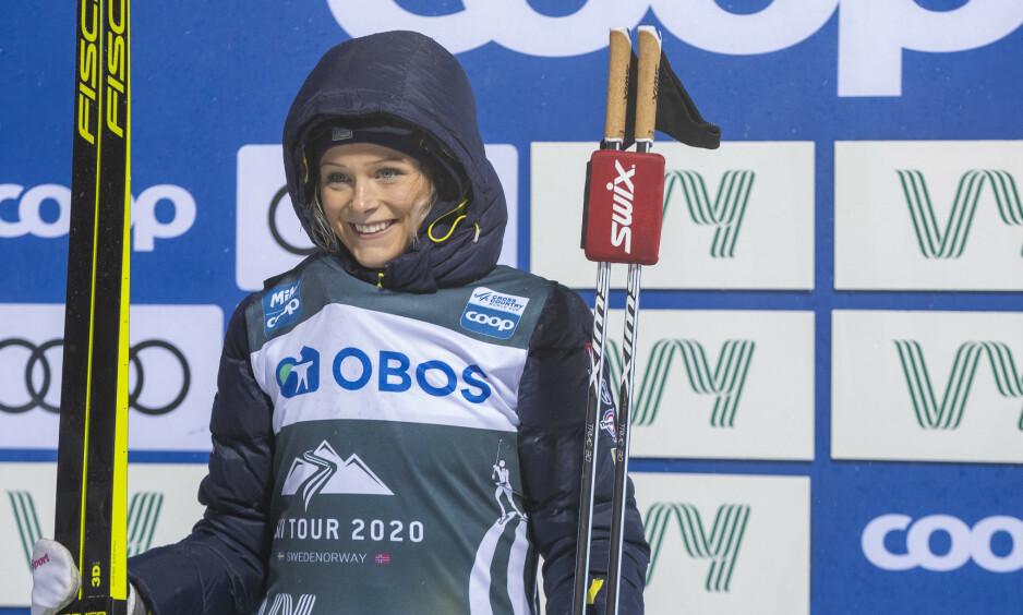 TILBAKE: Frida Karlsson. Her fra 10 km jaktstart for kvinner under Ski Tour i Östersund tidligere i februar. Foto: Terje Pedersen / NTB scanpix