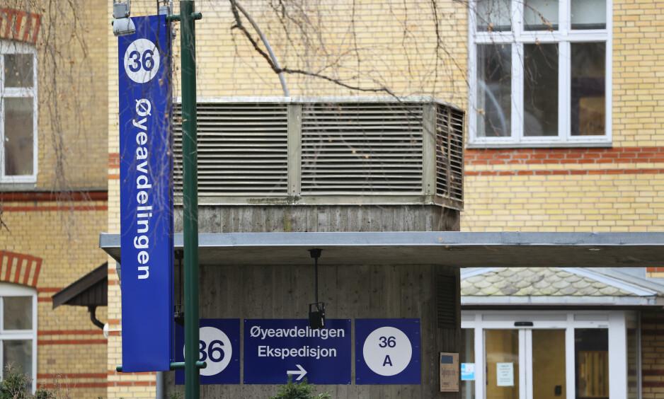 STENGT: Deler av øyeavdelingen ved Ullevål sykehus er stengt som følge av at fem ansatte er smittet av coronaviruset. Foto: Ørn E. Borgen / NTB scanpix