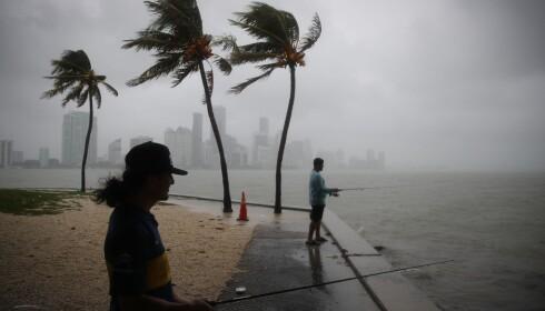 MIAMI: Florida er utsatt for ekstremvær og har alt startet arbeidet med å beskytte sandstrendene sine. Foto: AFP