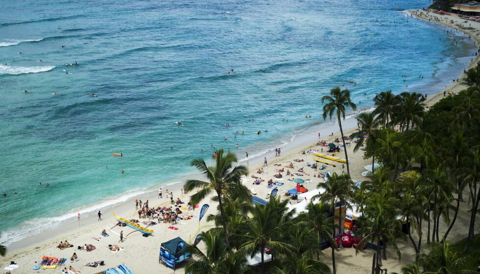 HAWAII: Sandstrender er viktige både i folks dagligliv og for naturen. Foto: Reuters