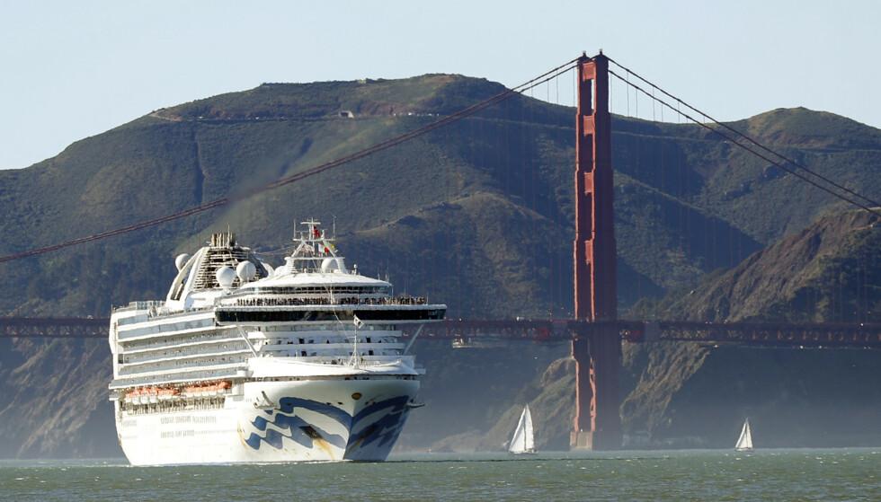 SMITTE: Minst 21 personer på cruiseskipet Grand Princess er smittet av coronaviruset. Foto: Scott Strazzante/San Francisco Chronicle via AP