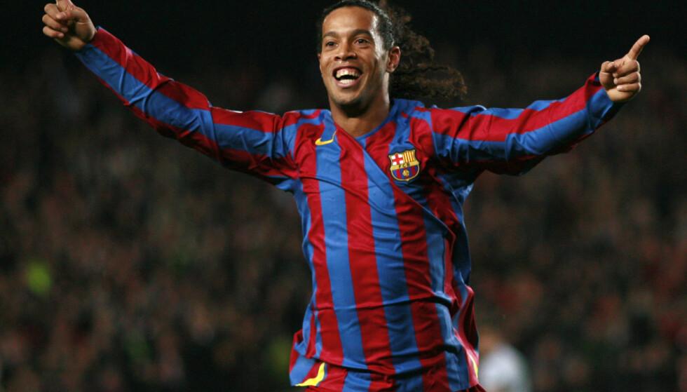 STORHETSTIDA: Ronaldinho var på et tidspunkt regnet som verdens beste fotballspiller. Foto: Back Page Images/REX (8493327ca) / NTB Scanpix