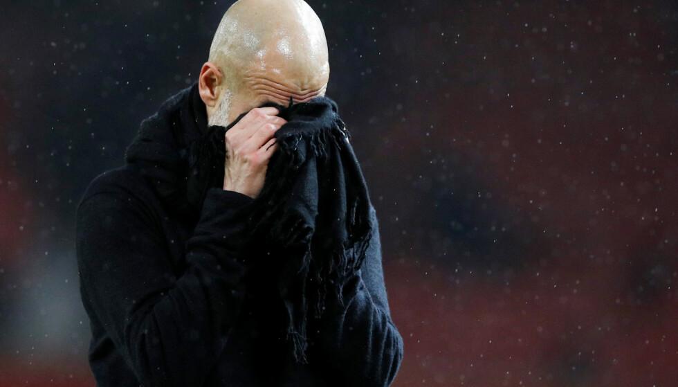 FORTVILTE: Pep Guardiola i det sluttsignalet gikk. Foto: NTB/Scanpix