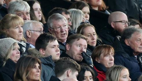FIKK SE SOLSKJÆR GJØRE SOM HAM: Sir Alex Ferguson var til stede på Old Trafford søndag. Foto: NTB/Scanpix