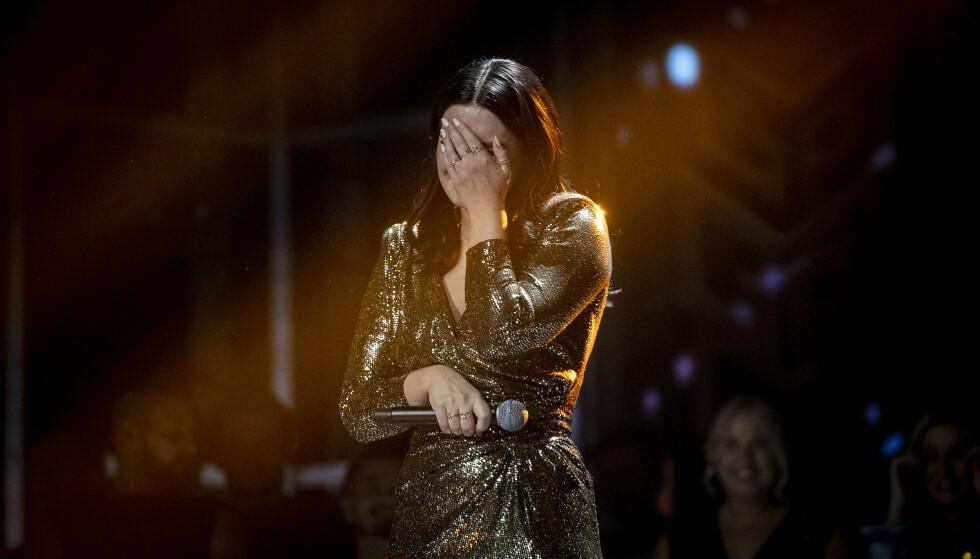 BØR AVLYSE: Tidligere smittvernsoverlege mener NRK bør trekke Norge ut av Eurovision Song Contest. Her ser vi Norges MGP-vinner Ulrikke Brandstorp som etter planen skal representere Norge i Rotterdam i mai. Foto: Bjørn Langsem / Dagbladet.