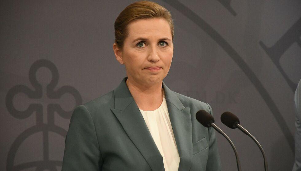 LUKKER NED: Danmark har i dag besluttet å stenge alle skoler. Det opplyste statsminister Mette Frederiksen om under en pressekonferanse onsdag kveld. Foto: NTB Scanpix