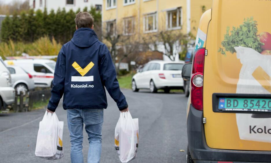 POPULÆRT: Kolonial.no nyter godt av at flere vil ha levert mat hjem til seg. Noe av grunnen er folk som sitter i corona-karantene.Foto: Håkon Mosvold Larsen / NTB scanpix