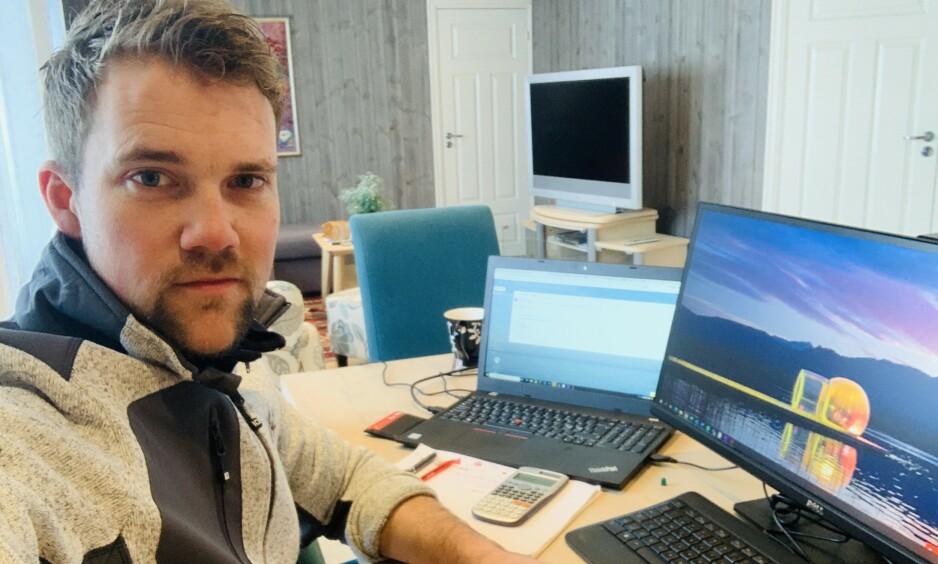 VAR PÅ SKIFERIE I ØSTERRIKE: Håvard Maurset (33) fra Stryn fikk coronaviruset etter skiferie i Østerrike. Nå er han på bedringens vei. Foto: Privat