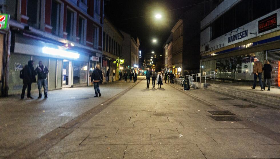 Oslo 20181020 Brugata i Oslo sentrum . Utesteder har stengt etter mye kriminalitet , vold og trusler Foto: Frank Karlsen / Dagbladet