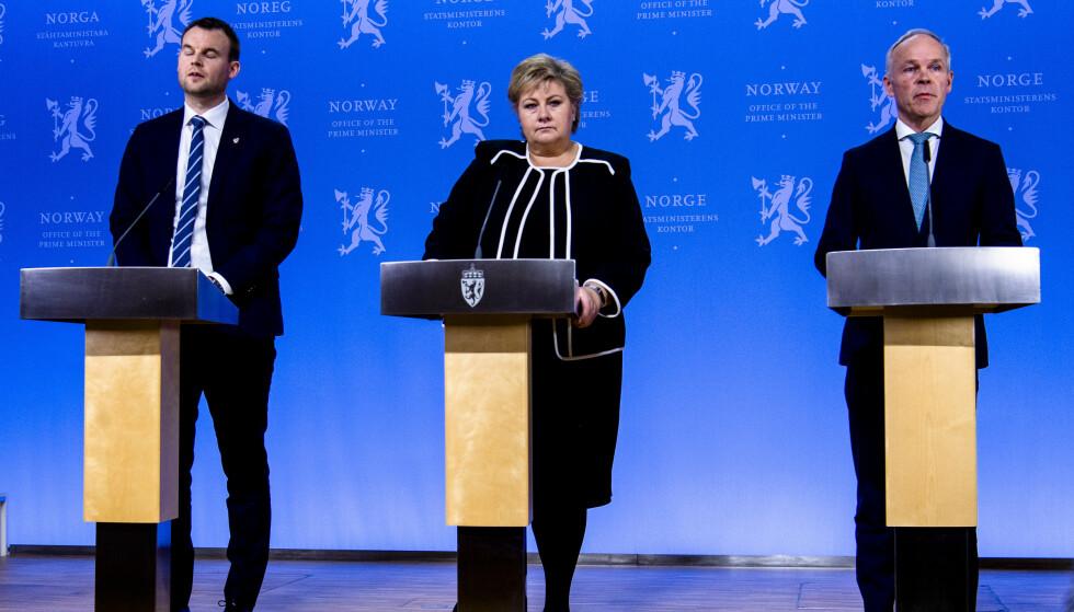 NYE RUNDER: Kompensasjonsordning og studentpakke er hovedtiltakene i regjeringens krisepakke nummer tre. Opposisjonen forventet langt mer. Foto: Lars Eivind Bones / Dagbladet