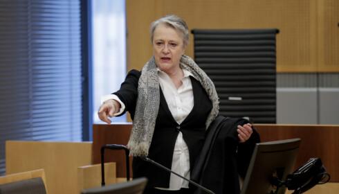 Oslo 20200326.  Saksøkernes advokat, Berit Reiss-Andersen i Oslo Tingrettt. Saken er regjeringens beslutning om å rive Y-blokka. Foto: Vidar Ruud / NTB scanpix