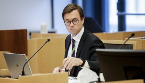 REGJERINGSADVOKAT: Andreas Hjetland hos regjeringsadvokaten reagerer også på det høye sakskstnadskravet fra motparten på 1,2 millioner kroner. Foto: NTB Scanpix