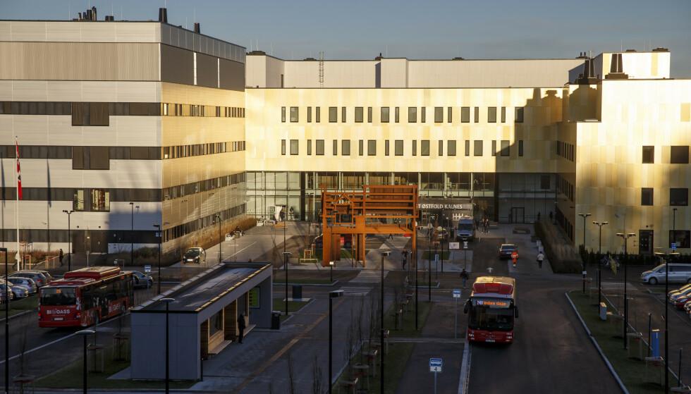 UTBRUDD: Sykehuset Østfold Kalnes utenfor Sarpsborg. Foto: Cornelius Poppe / NTB