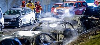 Ingen mistenkte etter bilbrann i Oslo