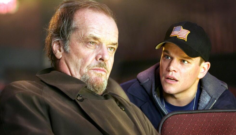"""ANBEFALES: Jack Nicholson og Matt Damon i gangsterthrilleren """"The Departed""""."""