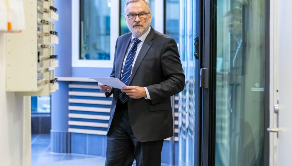 FÅR KRITIKK: PST-sjef Hans Sverre Sjøvold og PST får kritikk for å ha registrert folkevalgte stortingsrepresentanter i internt arkiv. Foto: Håkon Mosvold Larsen / NTB scanpix
