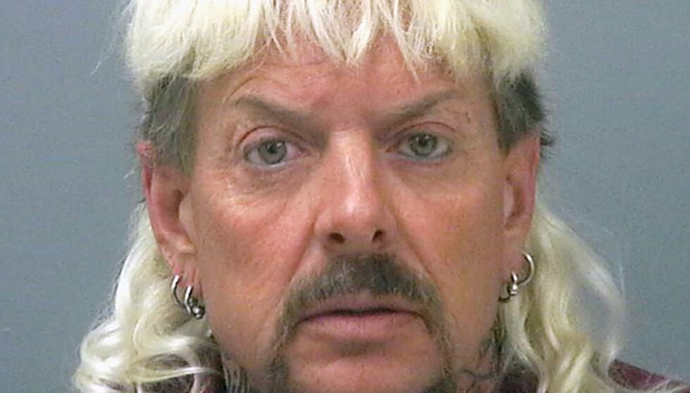 TRYGLER OM HJELP: Joe Exotic er fengslet for dyremishandling og forsøk på leiemord. Han soner 22 år i fengsel. Foto: NTB scanpix