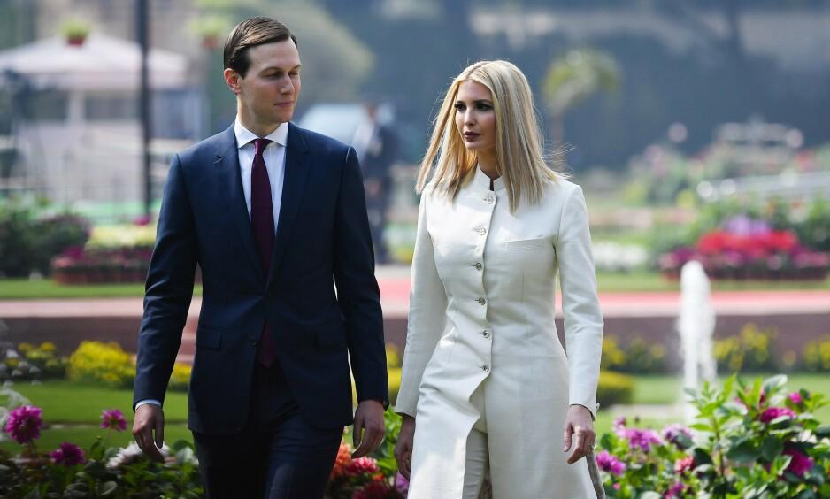 PÅ TUR: Ivanka Trump og mannen hennes Jared Kushner på en tidligere reise. Foto: Mandel Ngan / AFP / NTB scanpix