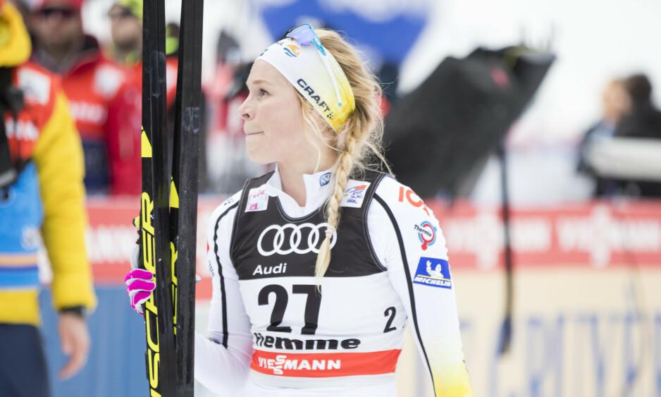 RAMMET: Langrennsløper Jennie Öberg ble svært syk av koronaviruset. Foto: Terje Pedersen / NTB scanpix