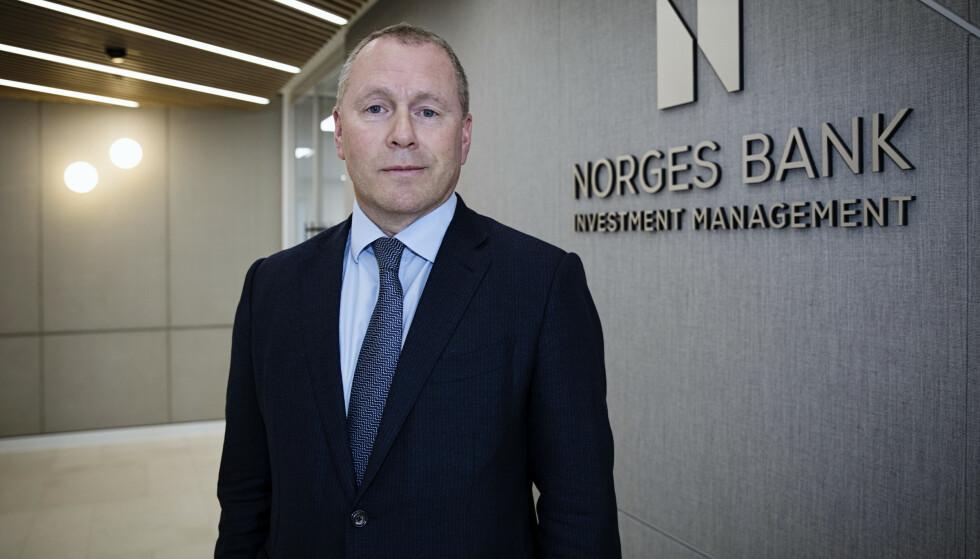 HELT INN?: Nicolai Tangen ble i mars presentert som ny sjef i oljefondet, Statens pensjonsfond. Foto: Nina E. Rangoy / NTB scanpix