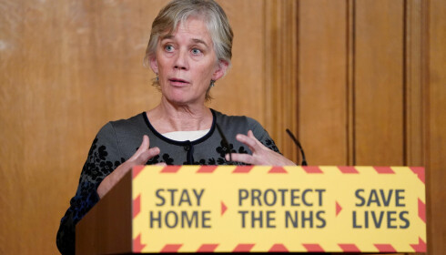 FORSKER: Angela McLean. Foto: Pippa Fowles/10 Downing Street/Handout via REUTERS