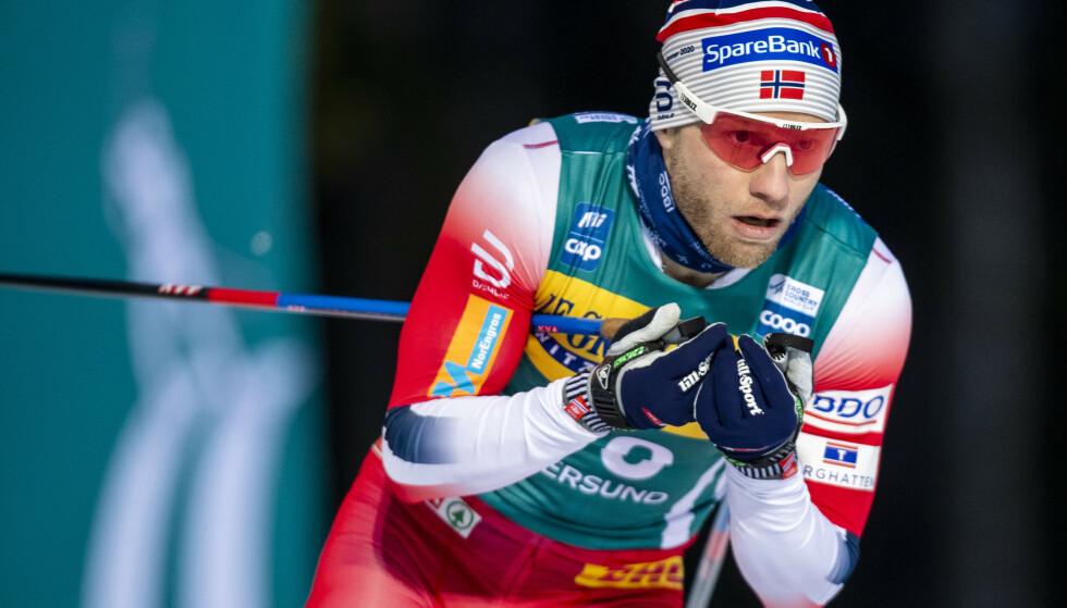 VRAKES: NRK skriver søndag at Martin Johnsrud Sundby må stå utenfor landslaget kommende sesong. Foto: Terje Pedersen / NTB scanpix