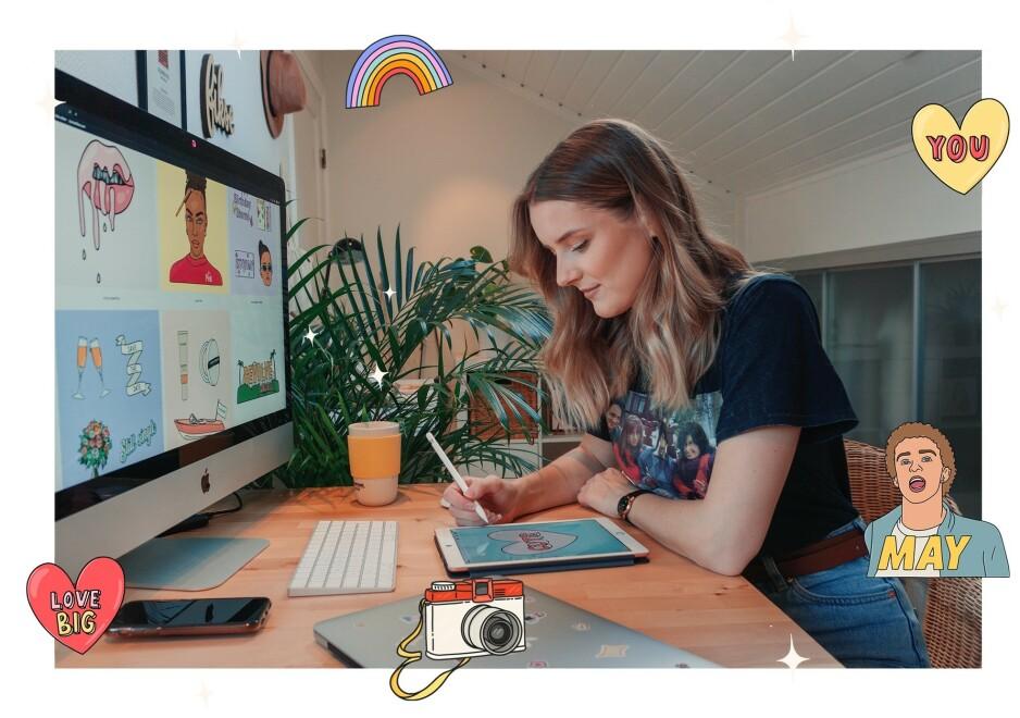 GIF-DRONNINGA: Nora Nymo Fikse har fått over 30 milliarder visninger siden hun begynte å lage GIFs for to år siden. Foto: Nora Nymo Fikse