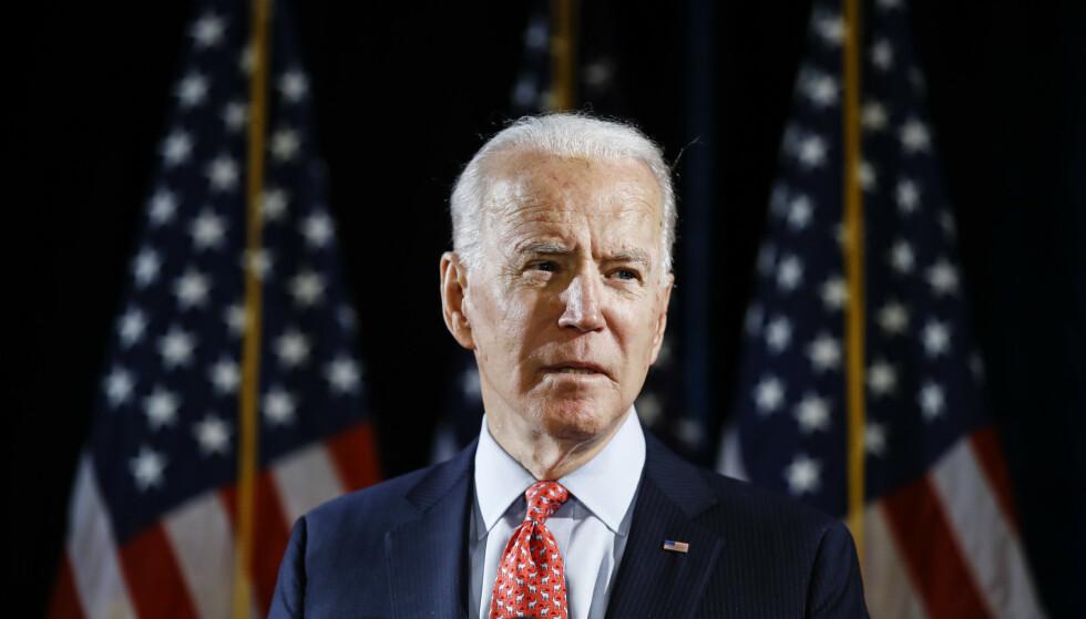 VENTES Å SVARE: Presset øker mot Demokratenes presidentkandidat Joe Biden, som ventes å svare på anklager om et seksuelt overgrep mot en tidligere ansatt. Foto: AP / NTB scanpix