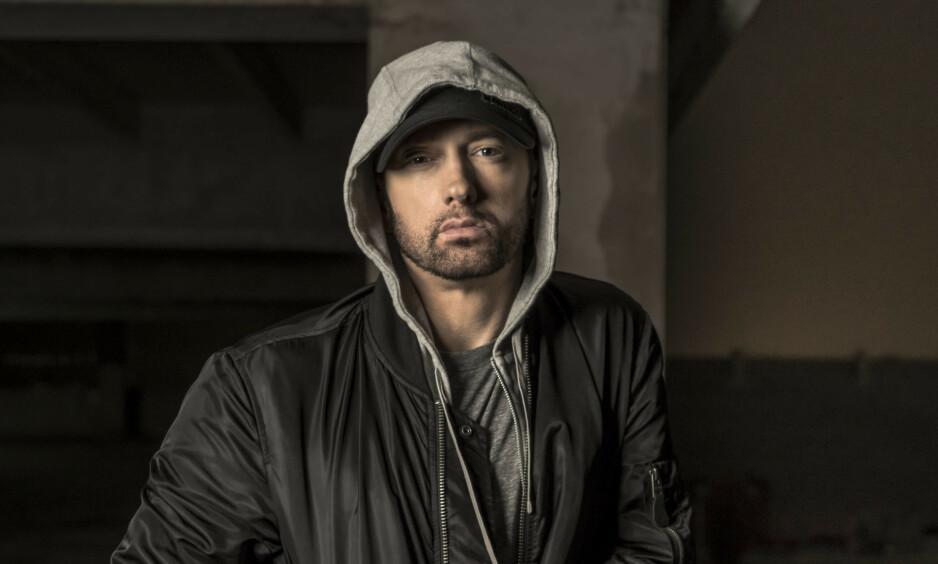 INNBRUDD: Eminem opplevde 5. april å ha en fremmed mann i stua midt på natta. Foto: NTB scanpix
