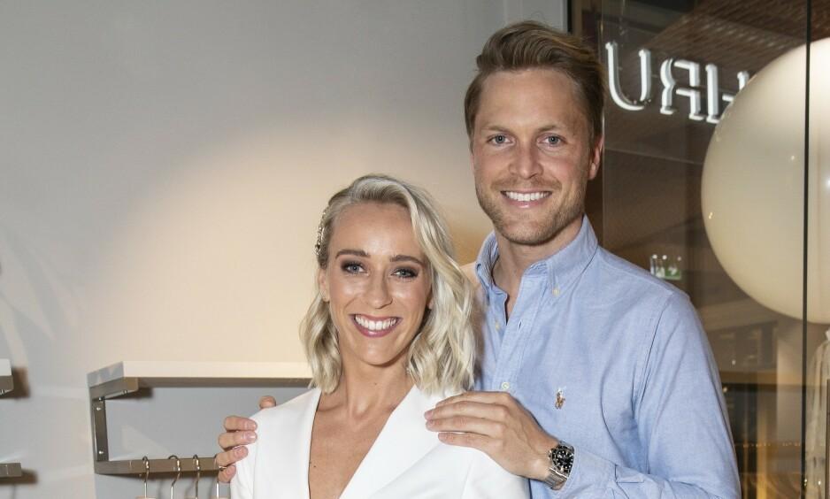 PÅ BOLIGJAKT: Katarina Flatland og ektemannen Harald Meling Dobloug selger leiligheten sin. Nå er de på jakt etter noe nytt. Foto: Andreas Fadum/Se og Hør