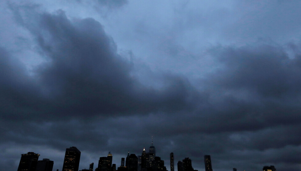 The skyline of downtown Manhattan is seen during the outbreak of the coronavirus disease (COVID-19) from the Brooklyn borough of New York City, U.S., April 24, 2020. REUTERS/Andrew Kelly