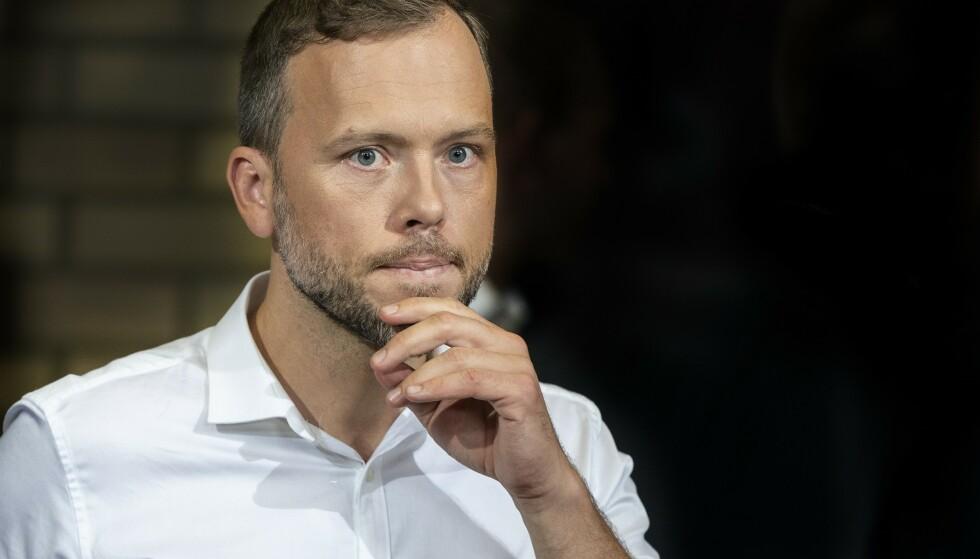 BEKYMRET: SV-leder Audun Lysbakken mener partiets egne anslag viser hvor dumt det er å fjerne formueskatten, slik Høyres landsmøte vedtok. Foto: Hans Arne Vedlog / Dagbladet