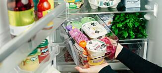 Slik bør du oppbevare maten i kjøleskapet