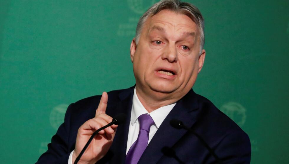 MISLIKER NORDISK KRITIKK: Ungarns statsminister Viktor Orban. Foto: Reuters/NTB Scanpix.