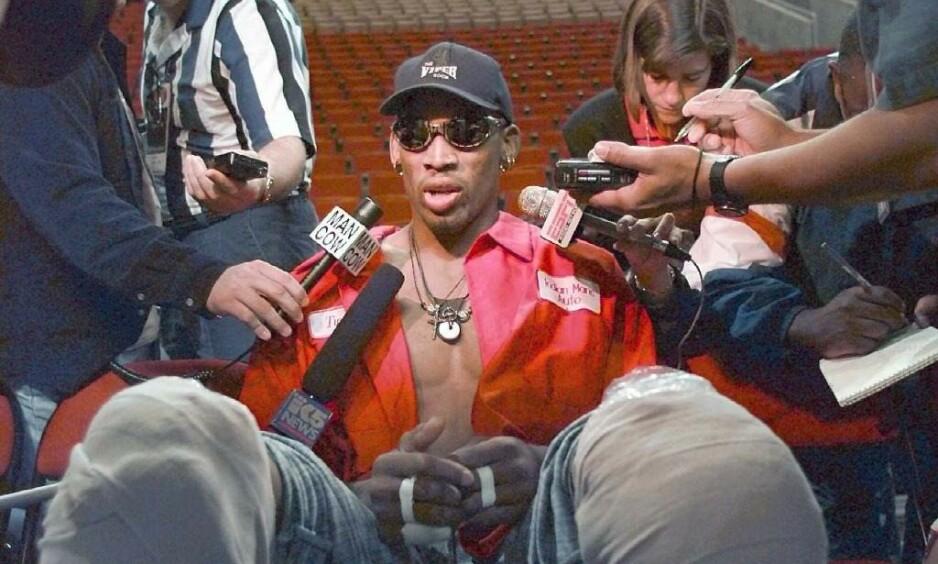 KARAKTER: Dennis Rodman er en karakter for seg selv. Foto: Blake Sell/REUTERS