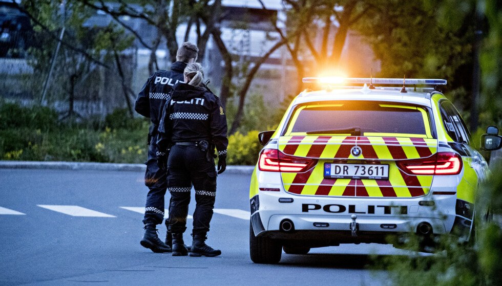 KONTROLL: Politet har løst opp en fest på Bekkelaget i Oslo. Foto: Bjørn Langsem / Dagbladet
