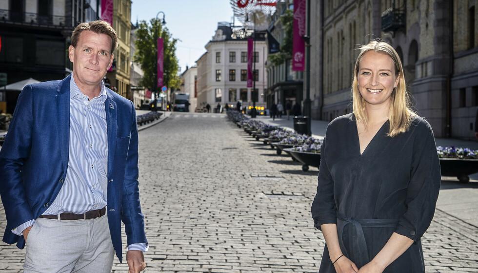 AVGIFTSKUTT: Høyre-profilene Kårstein Løvaas og Sandra Bruflot vil programfeste avgiftslettelser på alkohol, tobakk og sukker. De tror på gjennomslag under landsmøtet, men møter motstand hos partiets helsepolitikere. Foto: Hans Arne Vedlog /Dagbladet