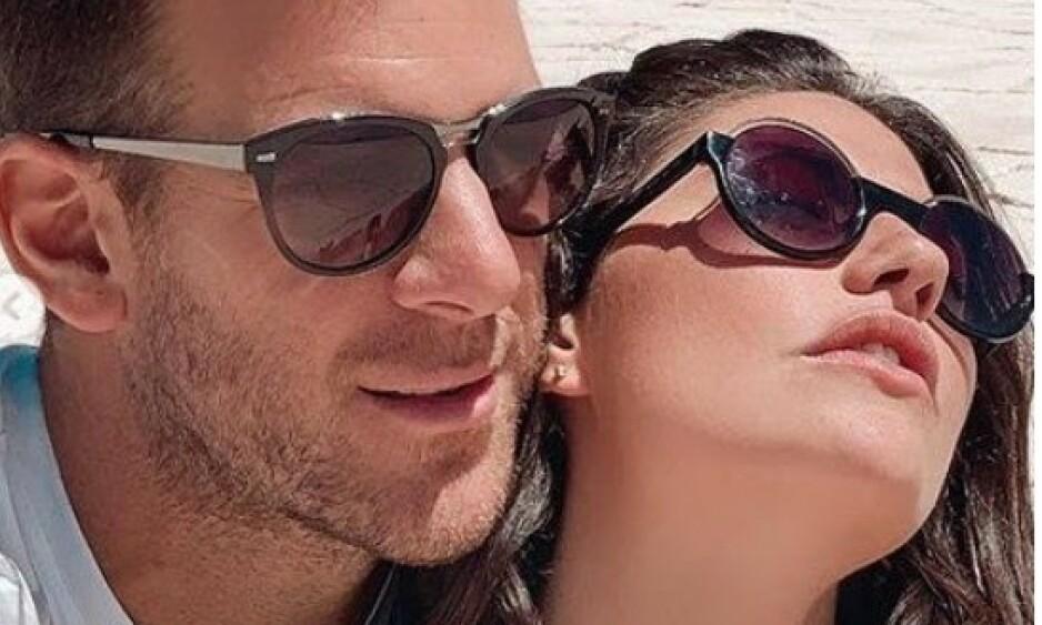 SLUTT: Juan Martin del Potro og modellkjæresten Sofia Jimenez ble sammen i desember 2018. Nå er forholdet over. Foto: NTB scanpix