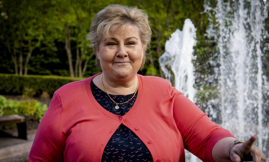 FOLKETS DOM: Erna Solbergs håndtering av coronakrisa bidrar til sterke tall i statsministermålingen som Ipsos gjør for Dagbladet. Også på partibarometeret gjør Høyre det godt. Foto: Lars Eivind Bones / Dagbladet