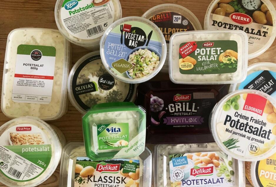 GRILLTILBEHØR: Potetsalat hører sommeren til, og vi har testet 15 klassiske potetsalater.