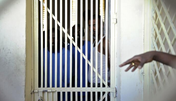 16-MANNS CELLER: Pirat-fengslet i Hargeisa har ikke eneceller, men store celler hvor 16 til 17 mann soner sammen. Tony Karumba / AFP / NTB