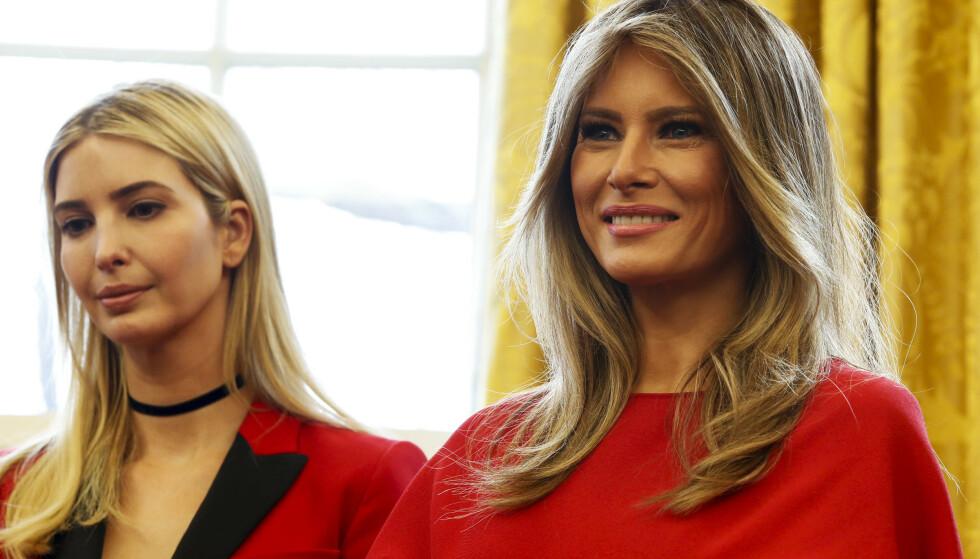 NY BOK: Tirsdag lanseres en ny bok om førstedame Melania Trump. Den avslører blant annet konflikt mellom Melania og Trumps datter, Ivanka. Foto. NTB Scanpix