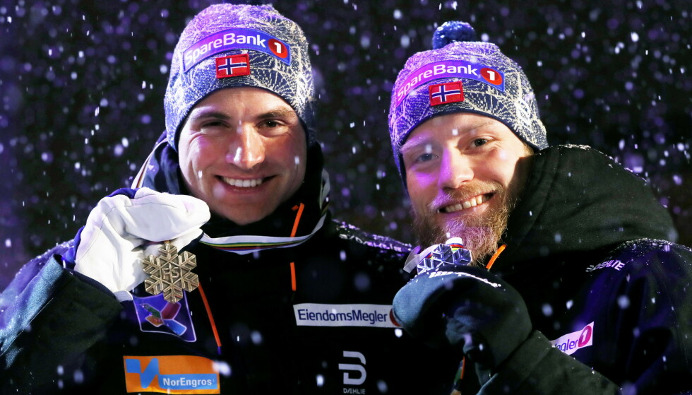 DANNER PRIVATLAG: Niklas Dyrhaug og Martin Johnsrud Sundby satser sammen utenfor landslaget. Foto: NTB Scanpix